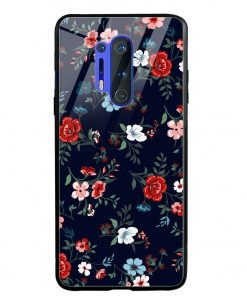 Retro Flower Oneplus 8 Pro Glass Case Cover