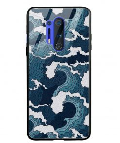 Waves Oneplus 8 Pro Glass Case Cover
