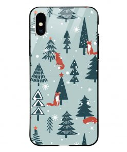Christmas Tree iPhone Xs Max Glass Case Cover