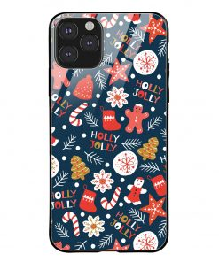 Holly Jolly iPhone 11 Pro Max Glass Case Cover