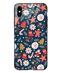 Holly Jolly iPhone Xs Max Glass Case Cover
