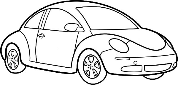 How to Draw Beetle Car Coloring Pages: How to Draw Beetle