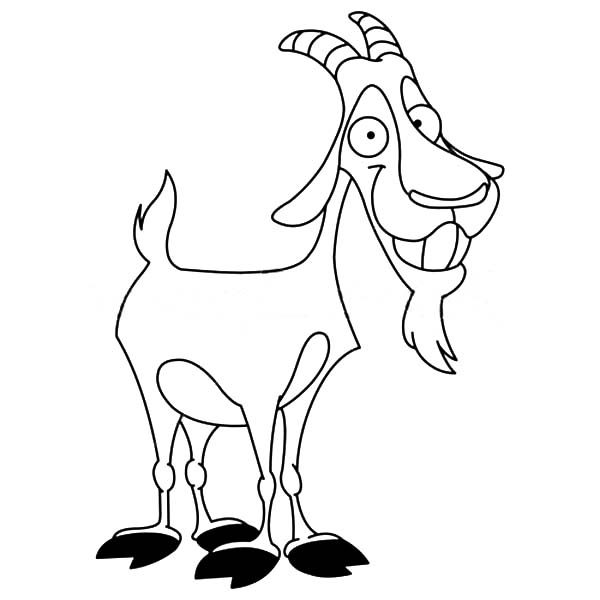 Billy Goat Coloring Page Coloring Pages