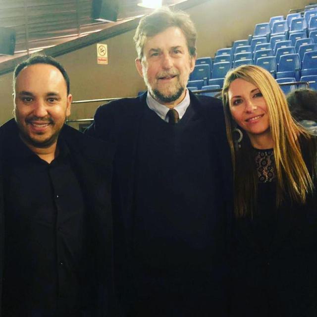 Nanni Moretti con Carlos y Gabriela
