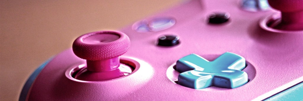 mando rosa y azul de xbox