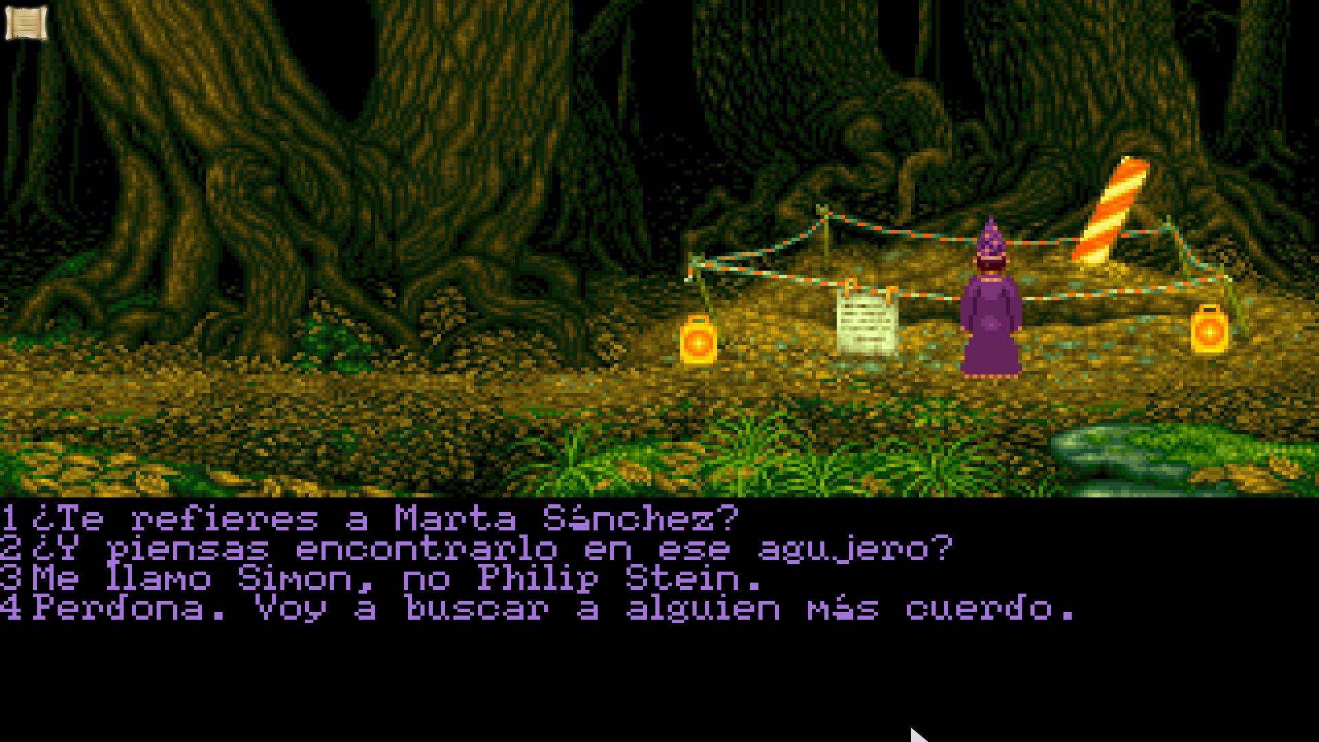 Simon The Sorcerer y Marta Sanchez