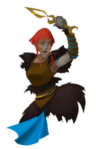 Arte original de algunos de los personajes