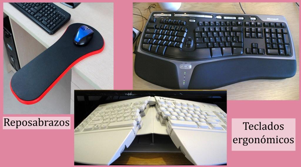reposabrazo y teclados