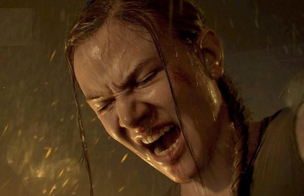 Abby gritando de dolor y rabia
