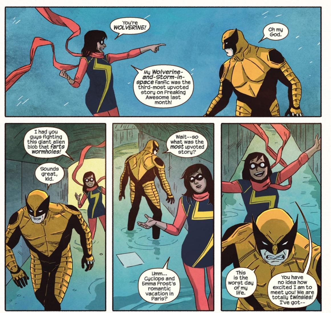 Fragmento de página de Ms. Marvel