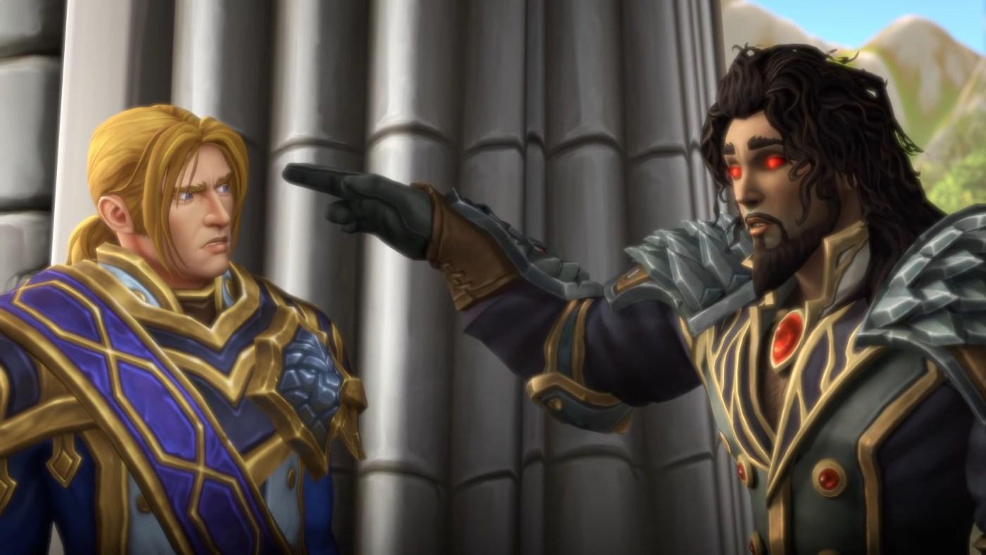 Wrathion y Anduin hablando