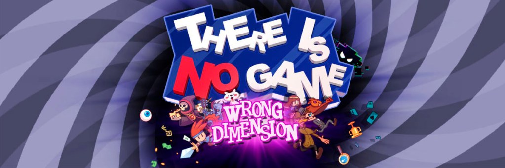 Logo de There Is No Game sobre una espiral doble