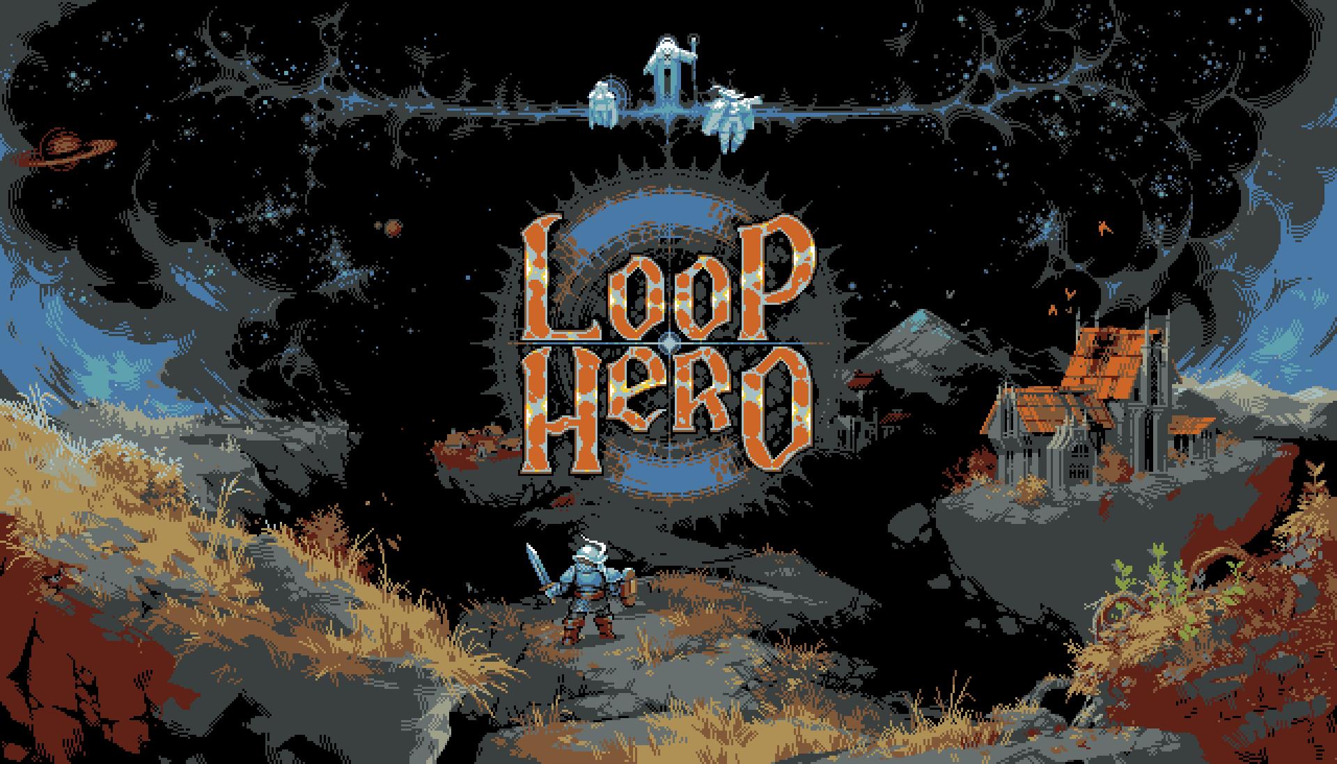 Pantalla de inicio de Loop Hero con el logo