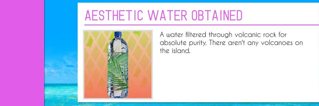 Paradise killer agua aesthetic banner