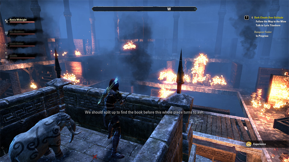 Una biblioteca ardiendo