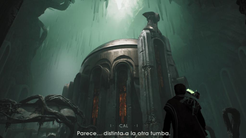 El protagonista Cal frente a unas Ruinas