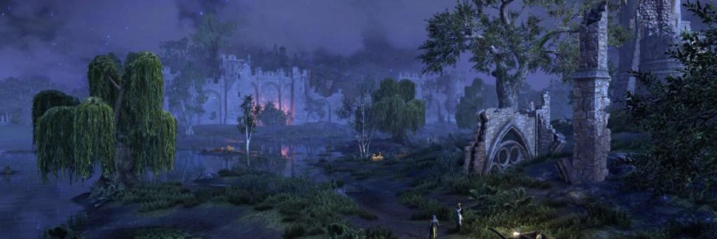 escenario pantanoso con ruinas