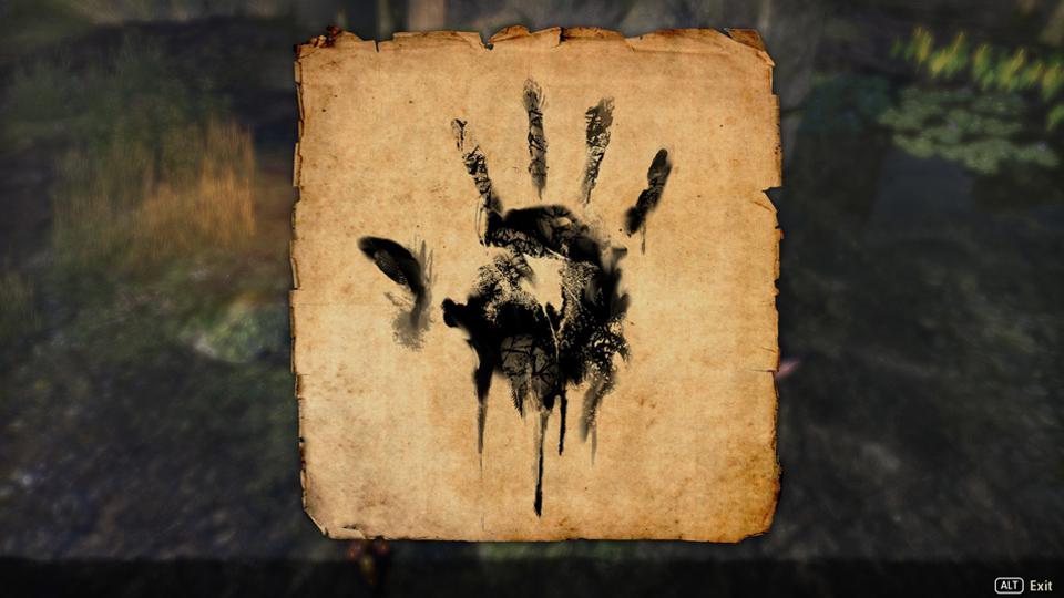 mano de la Hermandad Oscura