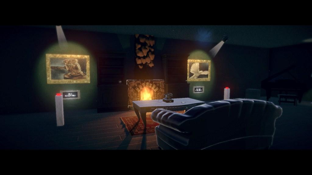 Summerland - Salón con chimenea y dos pulsadores