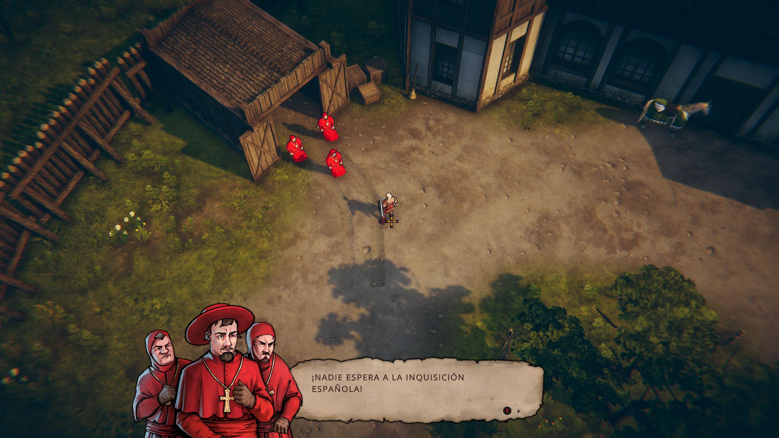 Inquisición Española apareciendo en un cobertizo