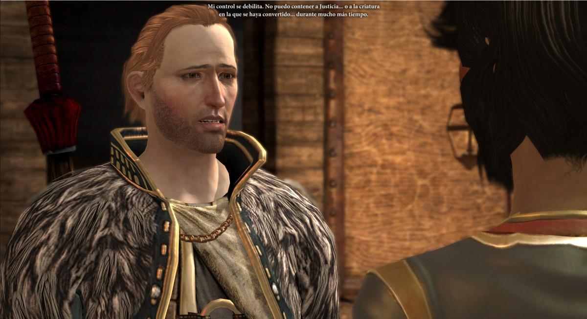 Anders se lamenta con Hawke de su falta de autocontrol