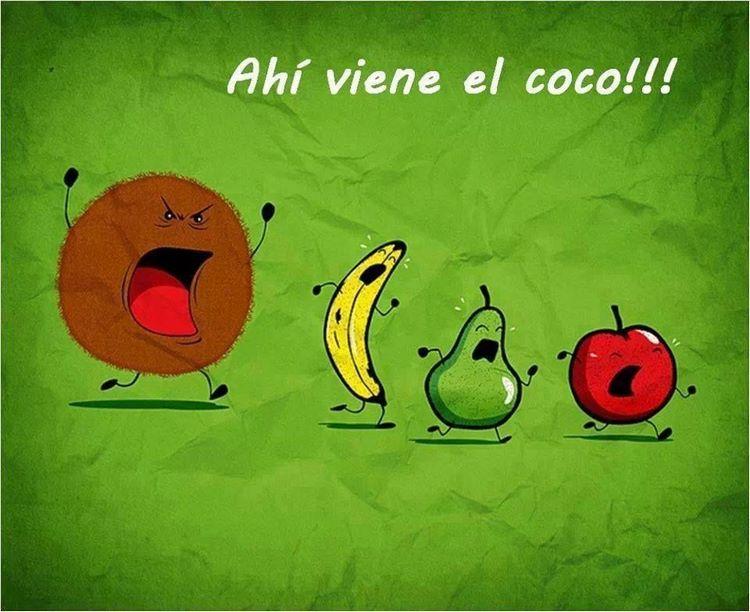 Chistes gráficos de fruta coco