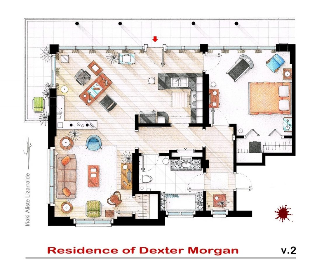 Plano de la casa de Dexter Morgan