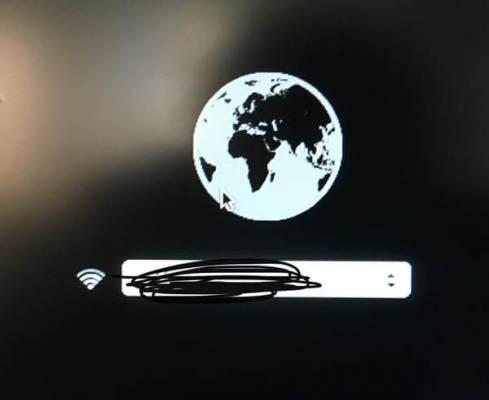 地球儀マークが出てきたのでWi-Fiを選択
