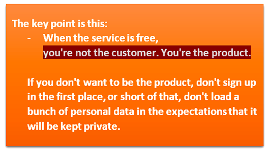 Personal data - you are product
