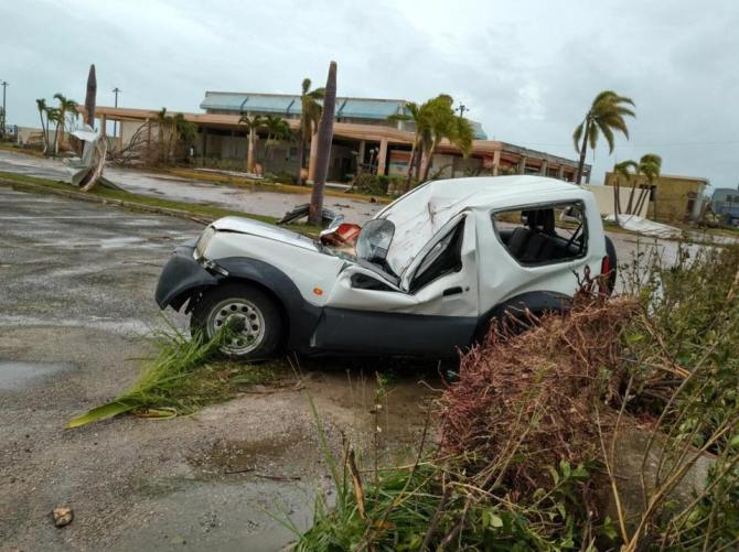 Photo of wreckage in Anguilla (ABS Television/Radio)