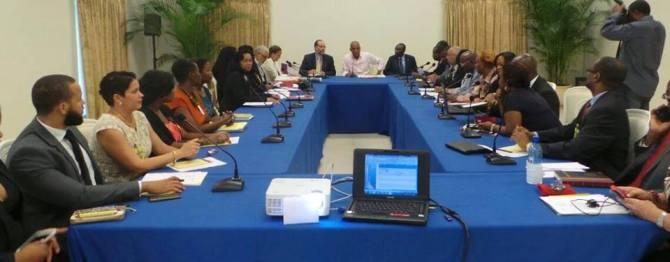 Haiti - president meets caricom sg