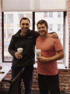 Braydan Young and Kris Rudeegraap run a successful start-up business called CoffeeSender.com.