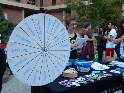 gsec emilee tabling queer week