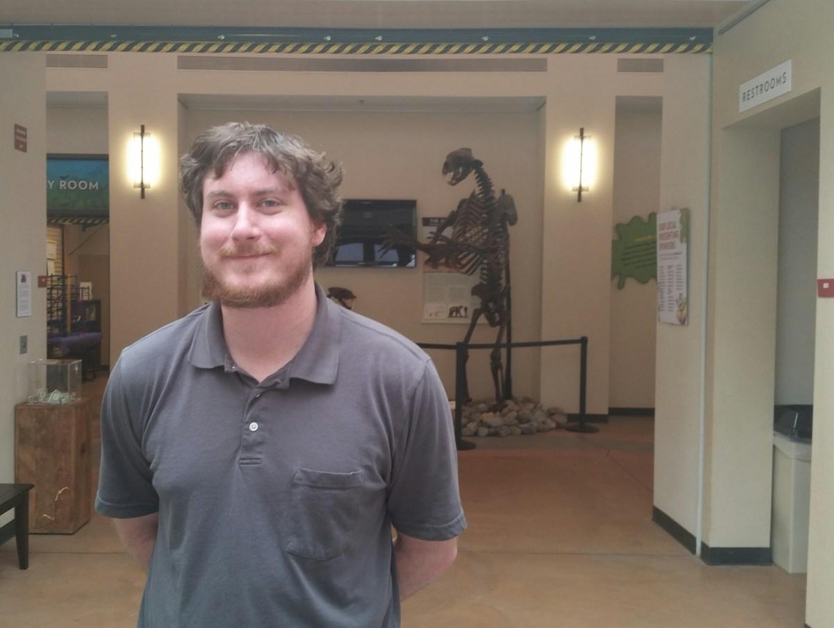 Scott Bladorn, the GSM's tech intern, programmed the new Magic Planet display.