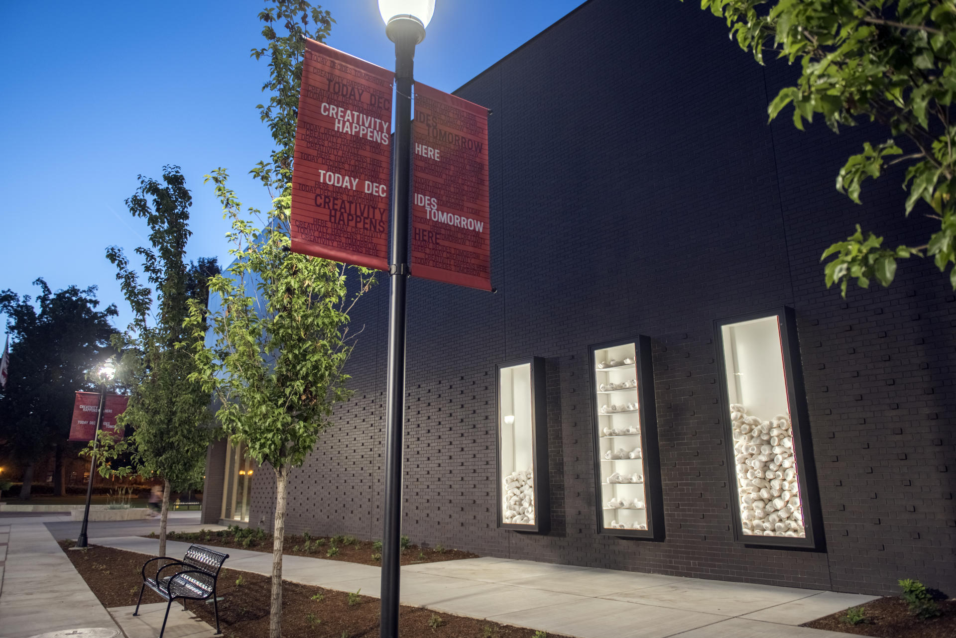 Creativity happens here, with our new Arts and Humanities Building anchoring The Arts District formed by the performance spaces in Laxson Auditorium and the Performing Arts Center.