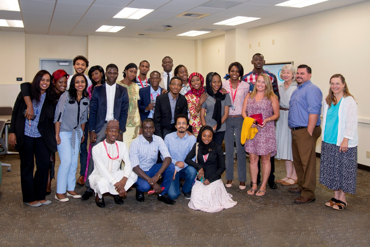 "Students after their final presentations for the ""Social Entrepreneurship Boot Camp"" on August 1, 2016. (Jessica Bartlett/Student Photographer)"