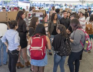 Presidential candidates, ballot propositions: students discussed many different topics at Chico Great Debate in October.
