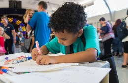 The coloring station at the Back-To-School Connect Event at Chico Junior High School added to the family-friendly atmosphere.