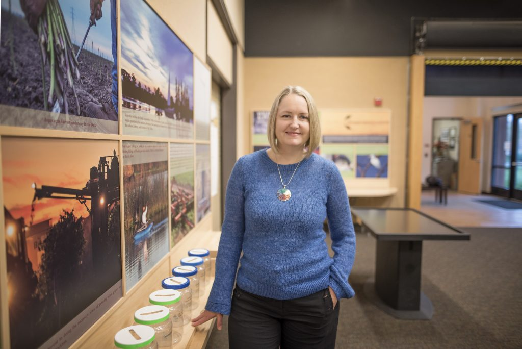 Adrienne McGraw is photographed in the Gateway Science Museum on Monday, January 8, 2018 in Chico, Calif. (Jessica Bartlett/University Photographer)
