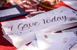"""I gave today"" signs"