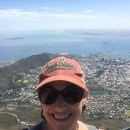 Gina Sims at the top of Table Mountain during a visit to Cape Town, South Africa.