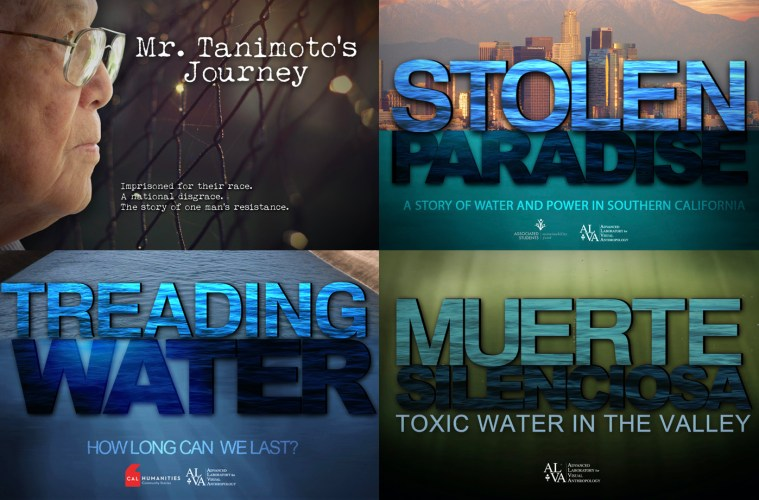 A digital illustration of four different movie titles