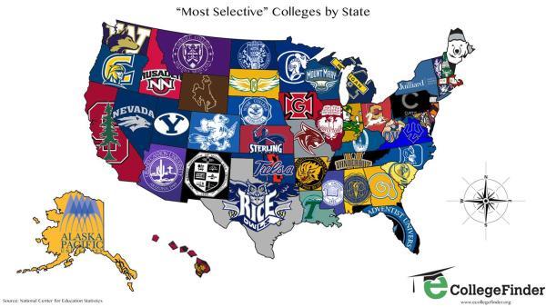 college map - u.s.