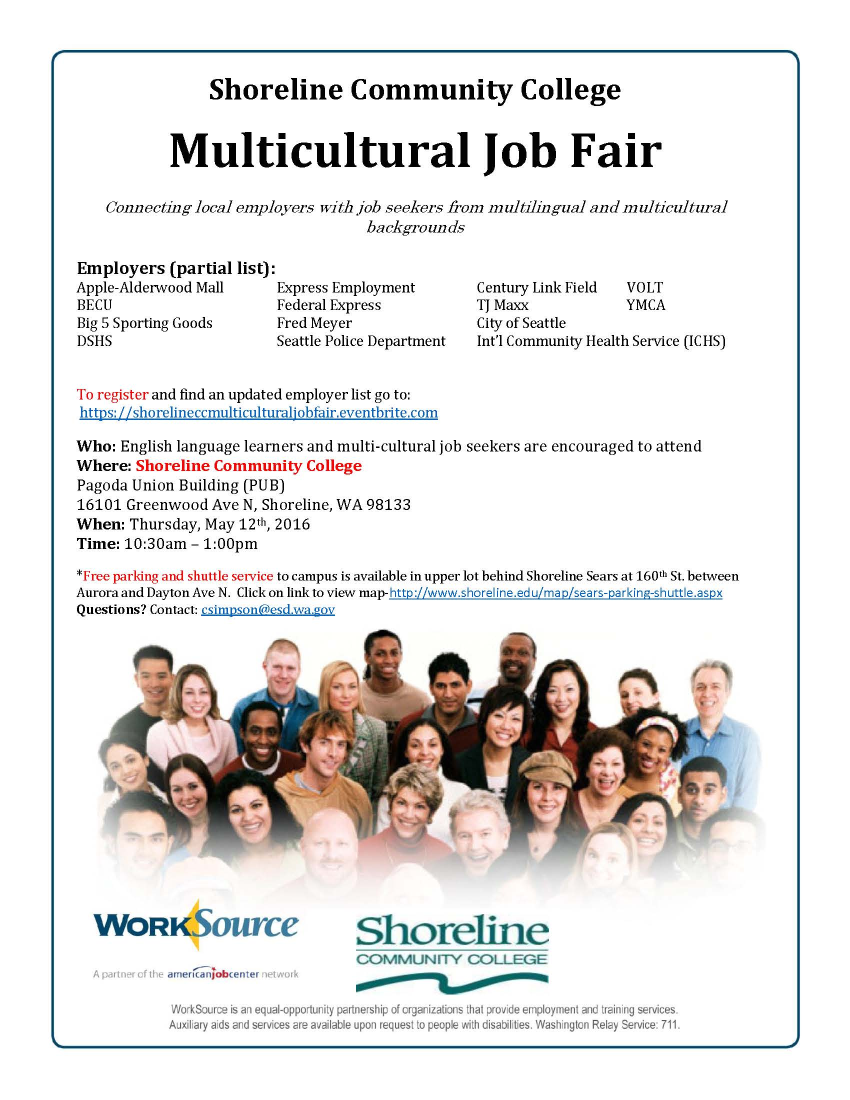 mark your calendars for the multicultural job fair  companies looking to meet job seekers from multilingual and multicultural backgrounds will be on campus thurs 12 from 10 30 a m 1 p m for the