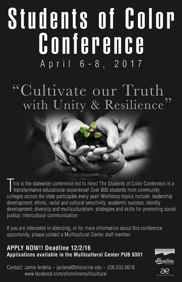 Tell your students! Students of Color Conference deadline is