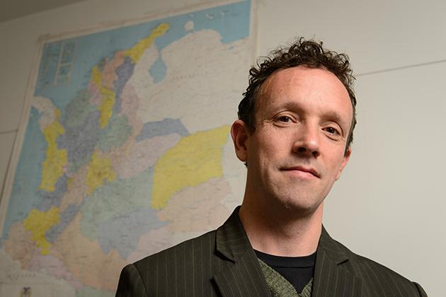 Luis van Isschot, assistant professor of history (Peter Morenus/UConn Photo)