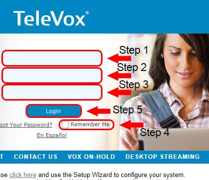 TeleVox ASP Login Form