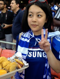Jannie and her stadium food!