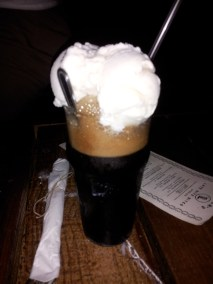 A beer float!