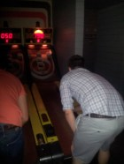 Steve playing skeeball at Kung Fu